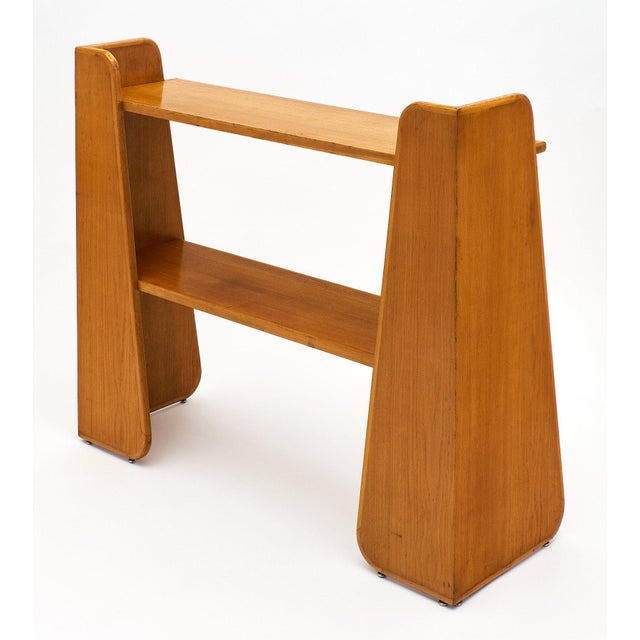 Brown French Modernist Oak Console For Sale - Image 8 of 10