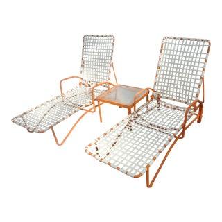 Brown Jordan Lido Chaise Lounge Set - 3 Pieces
