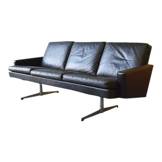 Mid Century Modern 'James Bond' Leather Sofa / Couch // Armchair For Sale