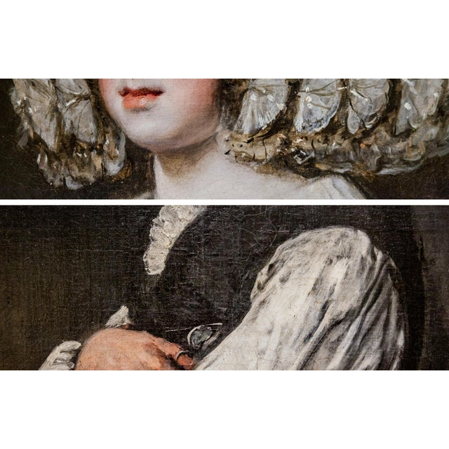 Two photographs of Old Master paintings, one by Velazquez the other by Goya. The combined work has an obvious visual...
