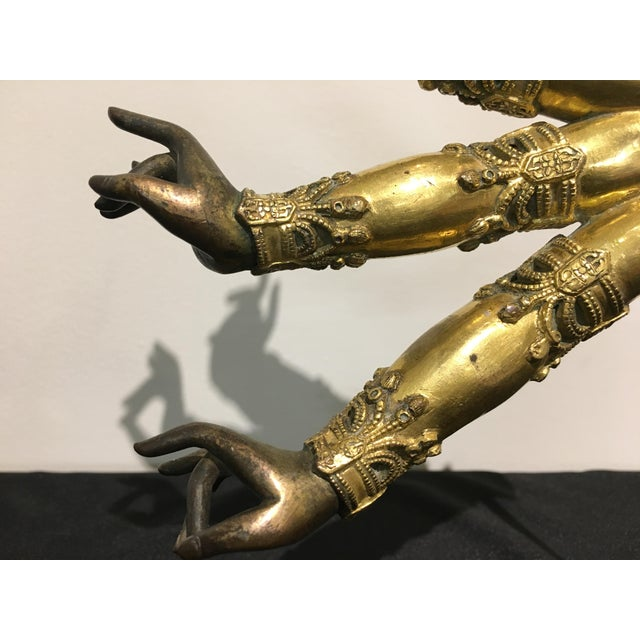 Tibetan Gilt Bronze Arms of a Bodhisattva For Sale - Image 4 of 8