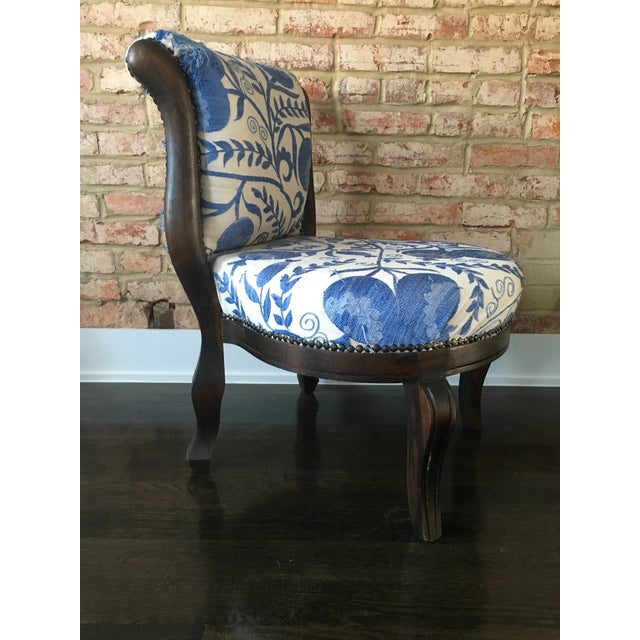 Vintage Slipper Chair With Suzani Upholstery - Image 4 of 7