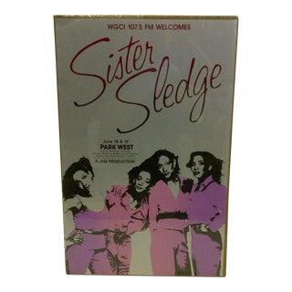 Vintage Sister Sledge Concert Poster For Sale