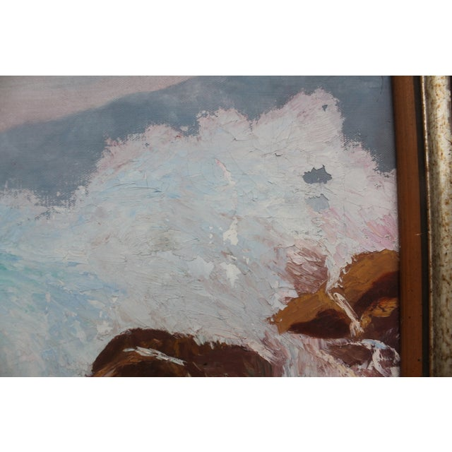 Ocean Scene, Oil Painting by Jean Papenfus For Sale In Miami - Image 6 of 11