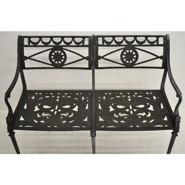 20th Century Neoclassical Style Dolphin Patio Double Settee For Sale - Image 4 of 13
