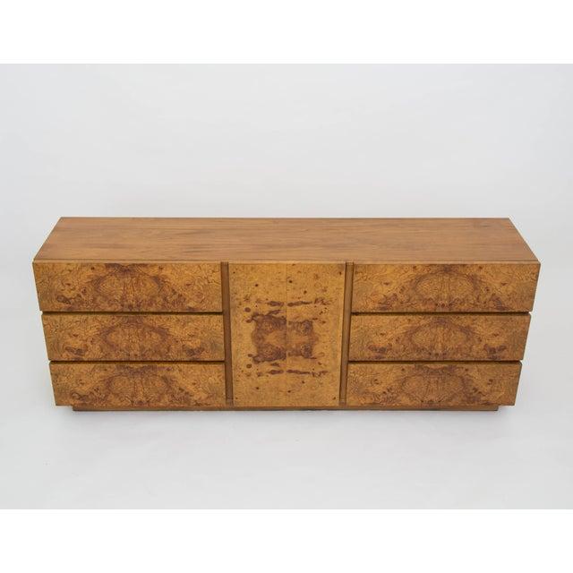 Olive Burl Wood Credenza or Dresser by Milo Baughman for Lane - Image 4 of 8