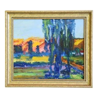 "Colorful Juan ""Pepe"" Guzman, California Landscape Oil Painting For Sale"