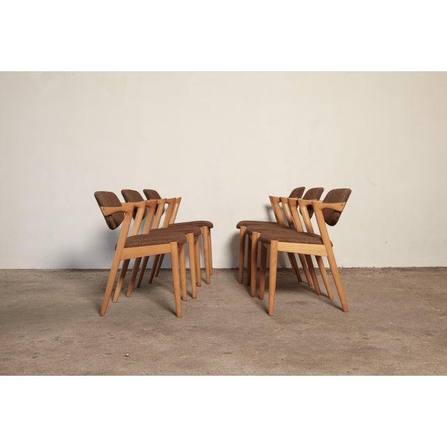 Kai Kristiansen Set of Six Model 42 Oak Dining Chairs by Kai Kristiansen, Denmark, 1960s For Sale - Image 4 of 9