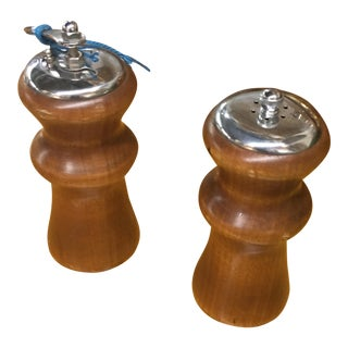 Classic Wooden Spice Mills - a Pair For Sale