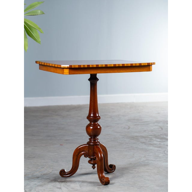 """Mid 19th Century Antique 1880s Italian """"Sorrento"""" Inlaid Table For Sale - Image 5 of 13"""