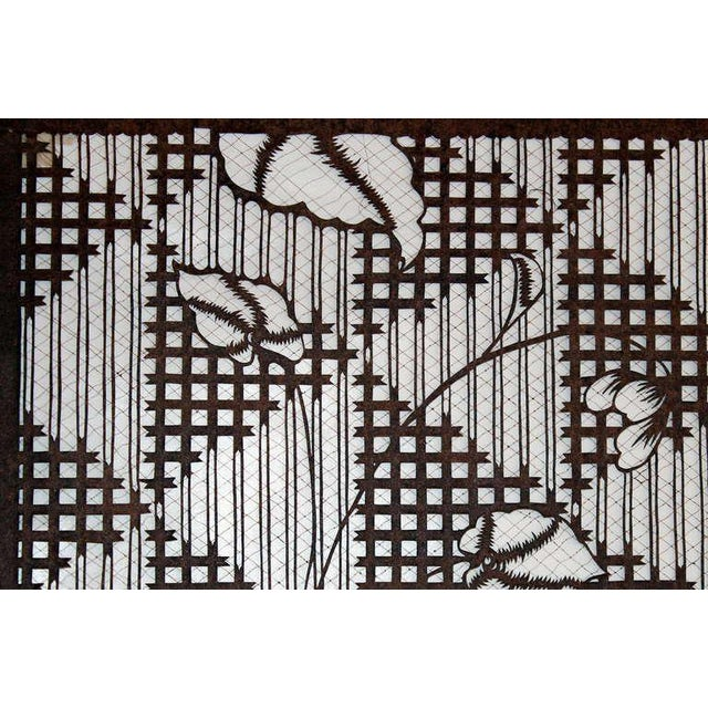 6a021d6ff Asian Antique Japanese Kimono Katagami Fabric Stencil For Sale - Image 3 of  11