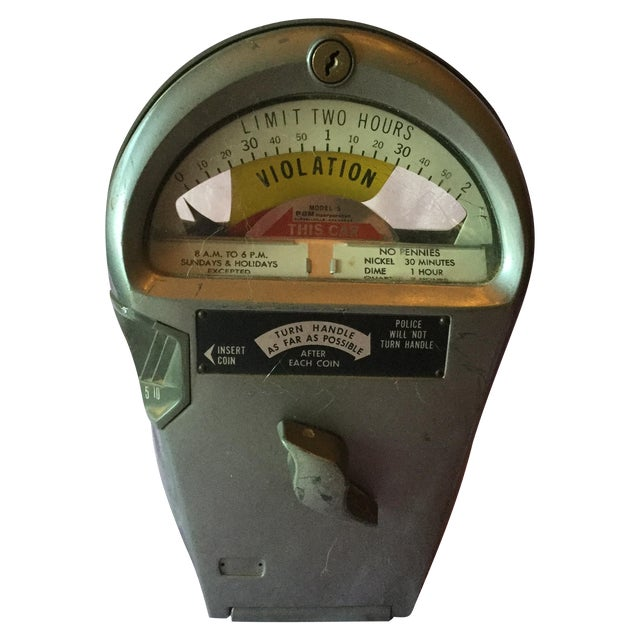 Vintage Authentic Parking Meter For Sale