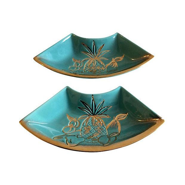 Hoenig Gold Fruit Side Dishes - A Pair - Image 1 of 4