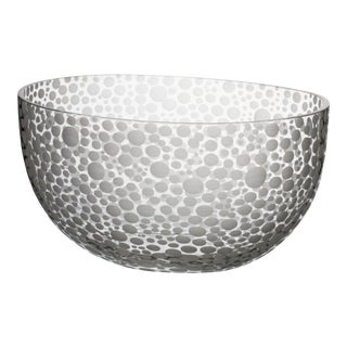 Carlo Moretti Millebolle Bowl with Spotted White Detail For Sale