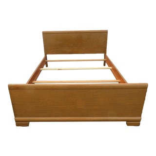 Mid Century Modern Painted Vintage Full Size Bed For Sale