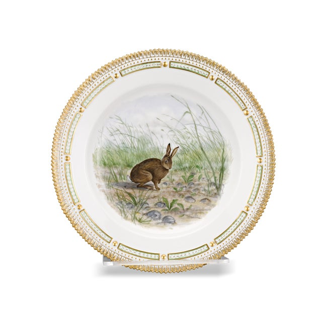 Traditional Flora Danica Rabbit Dinner Plate For Sale - Image 3 of 3