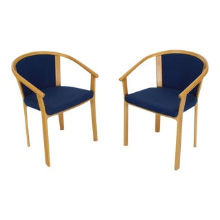 Danish Modern Barrel Back Chairs - a Pair For Sale
