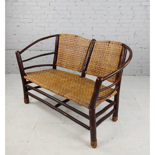 Antique 1920s Bentwood Settee and Chairs -Salon - Set of 3 For Sale - Image 4 of 12