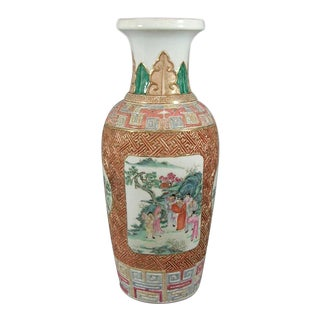 Early 19th Century Large Chinese Famille-Rose Vase For Sale