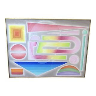 Post Modern Geometric Portrait For Sale