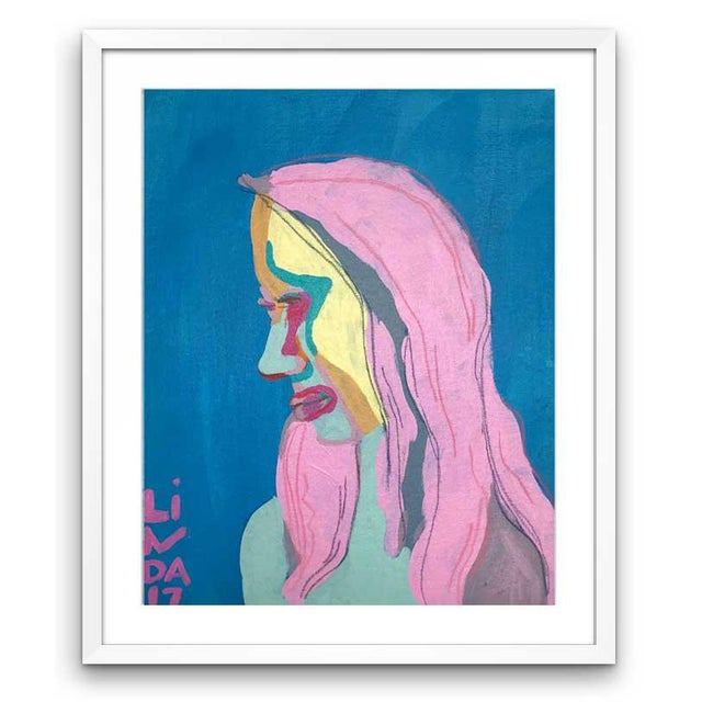 """2010s Contemporary Abstract Portrait Painting """"She's Got All-New Everything"""" - Framed For Sale - Image 5 of 5"""