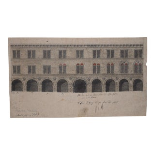 18th Century Old Master Architectural Drawing For Sale