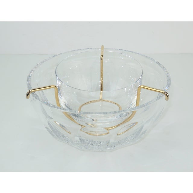 Hollywood Regency Baccarat Crystal Caviar Serving Bowls Set With Box For Sale - Image 3 of 13