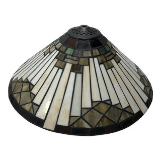 Mission Arts & Crafts Glass Lamp Shade For Sale