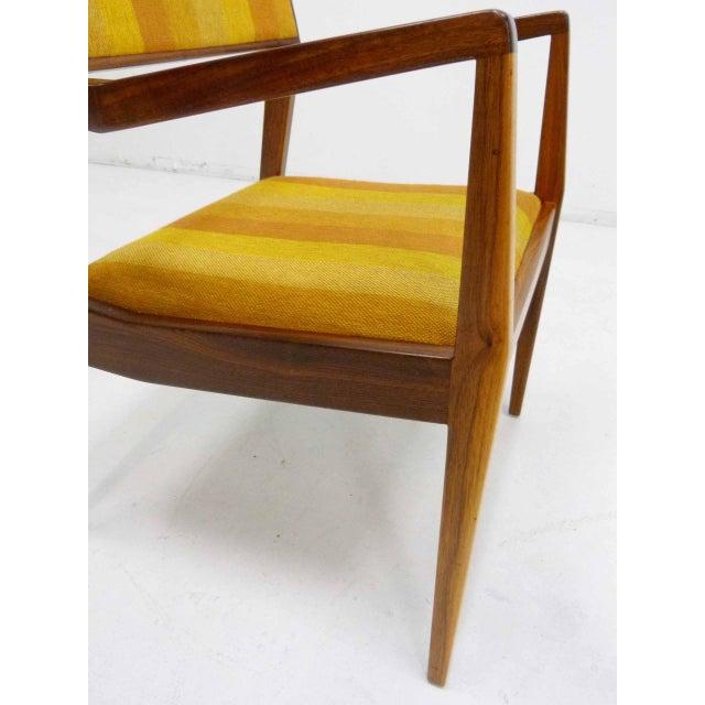 "Jens Risom Oiled Walnut ""Playboy"" Arm Chair - Image 8 of 10"