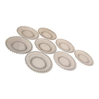 Candlewick Dessert Plates - Set of 8 For Sale
