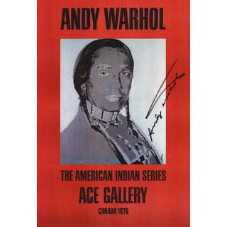 Andy Warhol, American Indian (Red), Offset Lithograph, Signed by Andy Warhol, 1977 For Sale