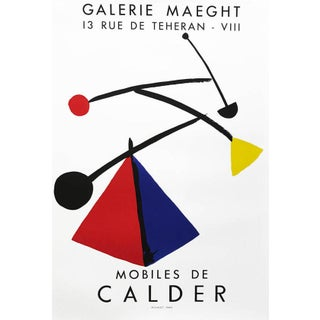 1980s Alexander Calder Poster Lithograph Mobiles, Maeght For Sale