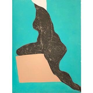 "Mid 20th Century ""Anadyomene"" Abstract Signed Etching Numbered 62/75 by Barbara Kwasniewska"