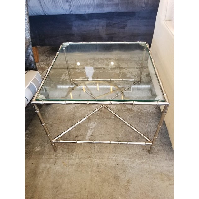 These side tables are a beautiful mix of transitional and modern. The bamboo motif and the chrome fuses perfectly for a...