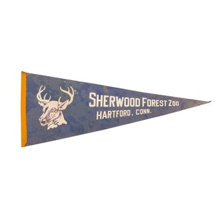 Sherwood Forest Zoo Felt Flag For Sale