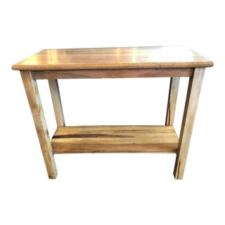 Reclaimed Hardwood Console For Sale
