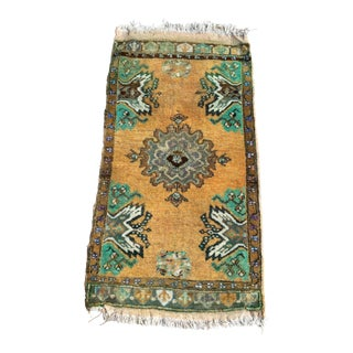 1970s Vintage Turkish Small Rug -1′8″ × 3′2″ For Sale