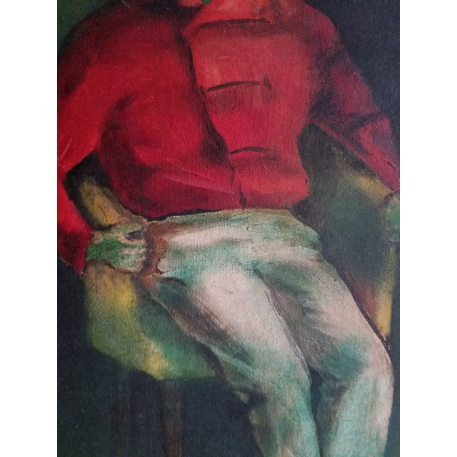Mid-Century Fauvist Portrait of a Man - Image 4 of 8