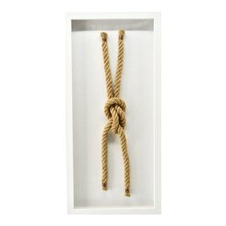"Framed Sailing Knot Beach House Decor ""Sheet Knot"" For Sale"