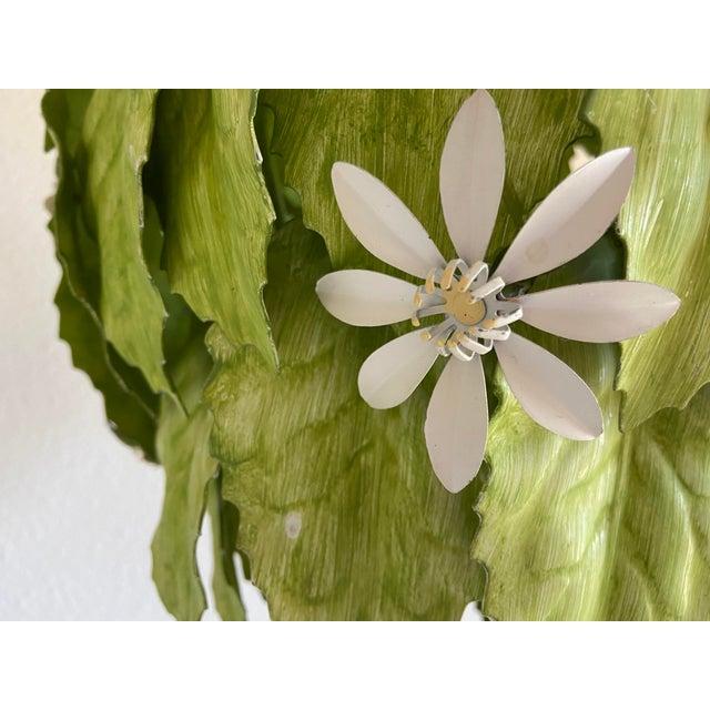 Rustic European Leafy Italian Pendant Light For Sale - Image 3 of 10