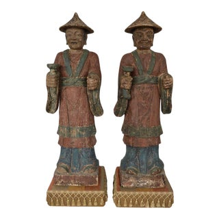 18th Century Chinese Statues - a Pair For Sale