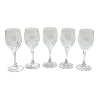 1980s Gorham Crystal Cordial Glass - Set of 5 For Sale
