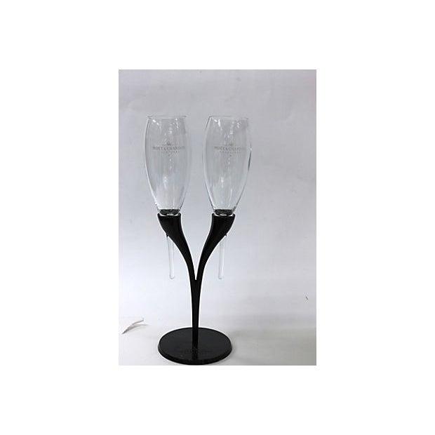 Mid-Century Modern Moët Chandon Champagne Candelabra For Sale - Image 3 of 6