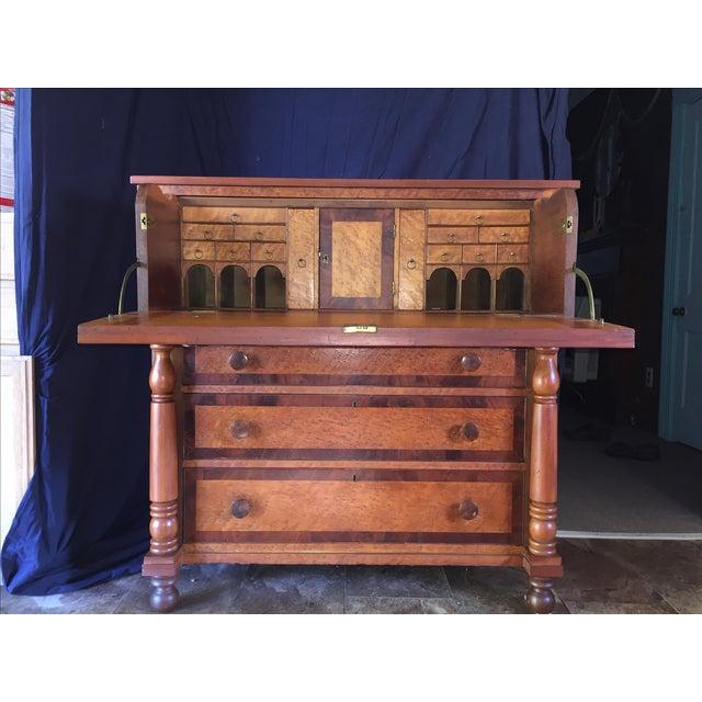 Birdseye Maple Butler's Desk - Image 2 of 9