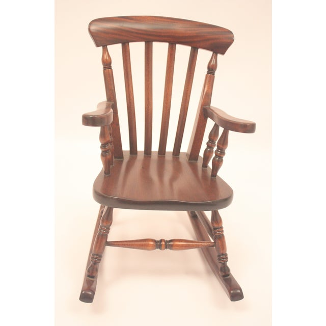 Winsor-Style Doll Rocking Chair - Image 3 of 6