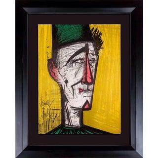 """Bernard Buffet Original Lithograph """"... Clown"""" 1967 Limited Edition W/Frame For Sale"""