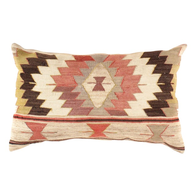 Vintage Hand Woven Turkish Kilim Pillow - Image 1 of 3