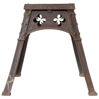 Antique French Gothic Iron Table For Sale