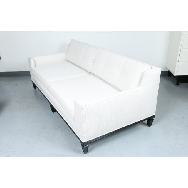 Oriental Style Mid Cemtury Love Seat Sofa For Sale - Image 9 of 11