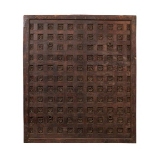 19th Century Carved Wood Ceiling Panel For Sale
